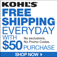 Free Shipping: All online orders of $25 or more get free standard shipping that delivers to your home in three to six days. You can also get free shipping when you ship to the store. Returns: Kohl's offers to refund items up to 36 months after a purchase.